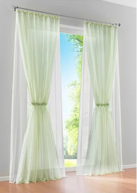 Double Layer 2 Colors Curtain Window Screening Quality Sheer Gauze Curtains For Living Room Customized In From Home Garden On Aliexpress