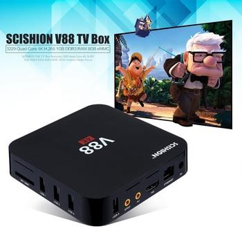 SCISHION V88 Set-top Tv box Android 5.1 Smart TV Box Quad Core 1G/8G 4K H.265 WiFi Full Loaded 1.5GHZ Media Player PK X96 X92