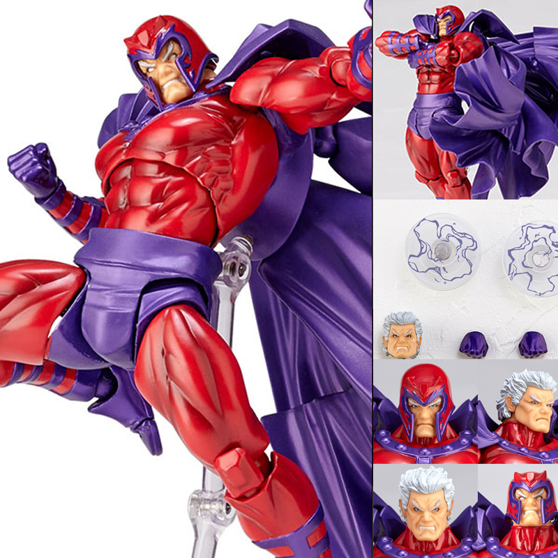 FIGMA Series NO.006 Magneto Figure NO.006 Revoltech Magneto PVC Action Figures e Collection Model Toy Doll Gift one piese action figure 28cm dracula mihawk arrogant expression model pvc figures collection toy for children