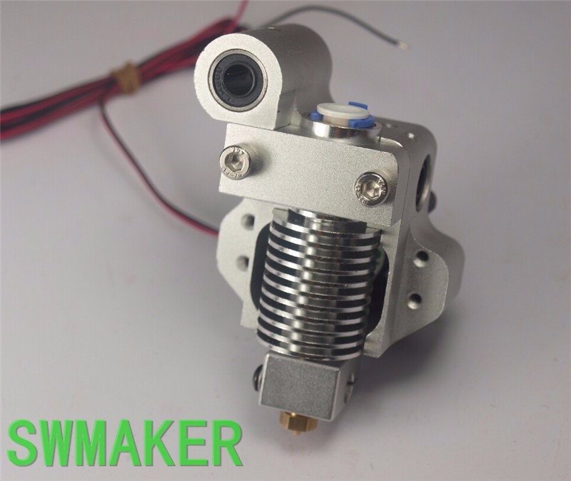 V6 hot end mount kit For ultimaker 2 UM 2 Extended ultimaker Original 3D printer nozzle exrusion kit for 1.75/3mm filament um 2 ultimaker 2 extended v6 hotend mount full kit cnc mount holder pt100b temp sensor 1 75 3mm new aluminum alloy