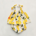 Детская одежда девушка лета Лимонно-желтый ремень печати футболка + шорты 2 шт. набор девушка новорожденный одежда следующий bebes одежду