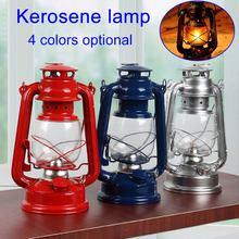 Lámpara de queroseno clásica Retro, 4 colores, linternas de queroseno, mecha, luces portátiles, adorno CLH - 8