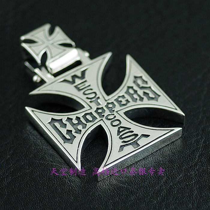 Thailand imports, hip hop style 925 Sterling Silver heavy gas Cross Pendant thailand imports retro 925 sterling silver cross pendant