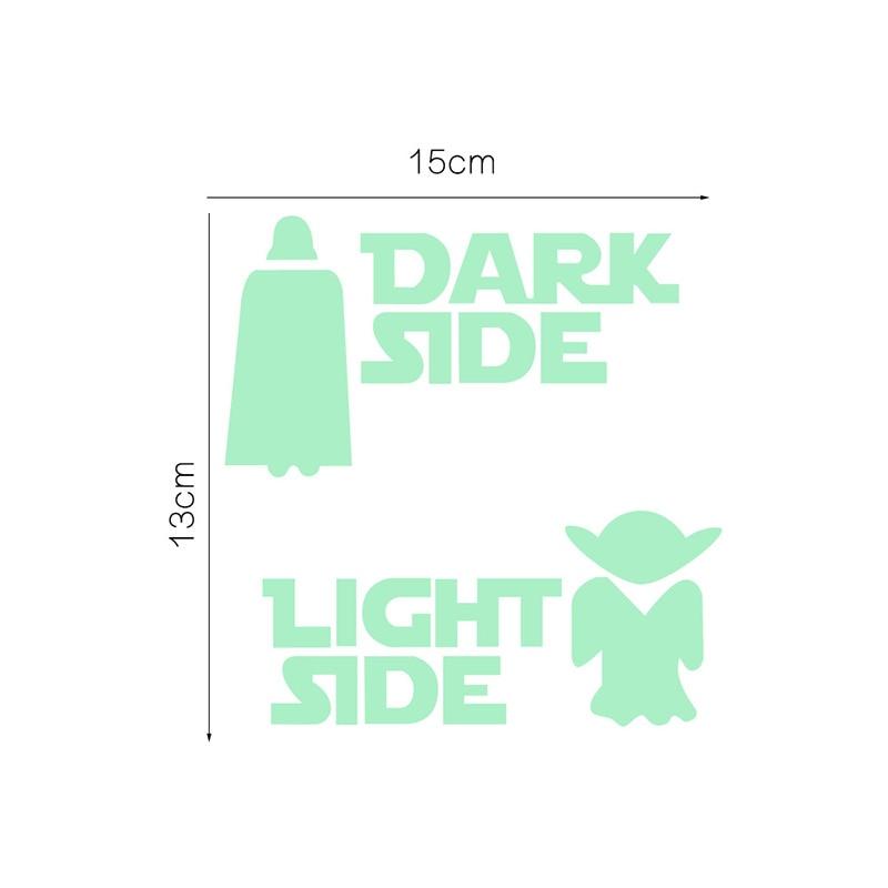 Star Wars Luminous Dark Side - Light Side Home Decoration Sticker