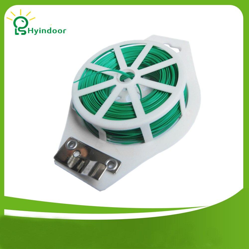164ft 50m Zelená plastová Twist Tie Wire Spool roll s Cutter pro zahradní yard rostlin zelená PVC Twist Tie Line