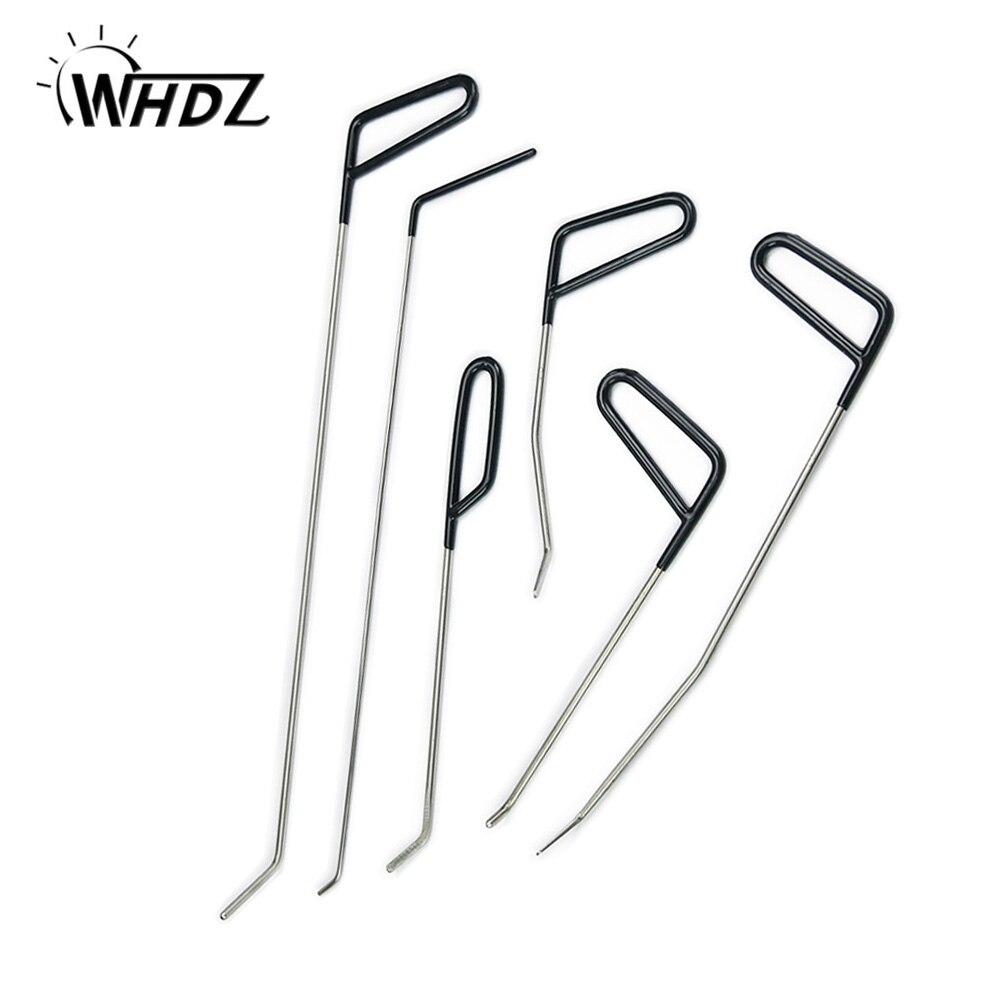 WHDZ Ferramentas Ganchos Push Varas Remoção Dent PDR Paintless Dent Repair Kit Porta Ferramenta Para Remover Mossas Granizo Reparação Dent conjunto de Ferramentas de mão