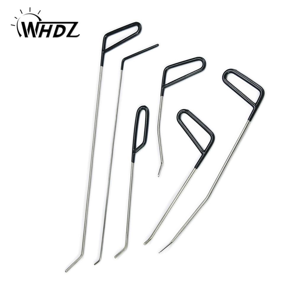 WHDZ PDR Tools Hooks Push Rods Dent Removal Paintless Dent Repair Kit Door Dings Hail Repair Tool To Remove Dent Hand Tool set