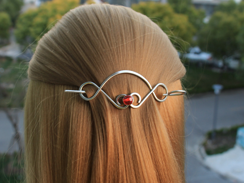 Handmade Unique Nickel Silver Hair Clip Pin Stick Luxury Women Wedding Hair Accessories Vintage Jewelry Metal Ponytail Holder in Hair Jewelry from Jewelry Accessories