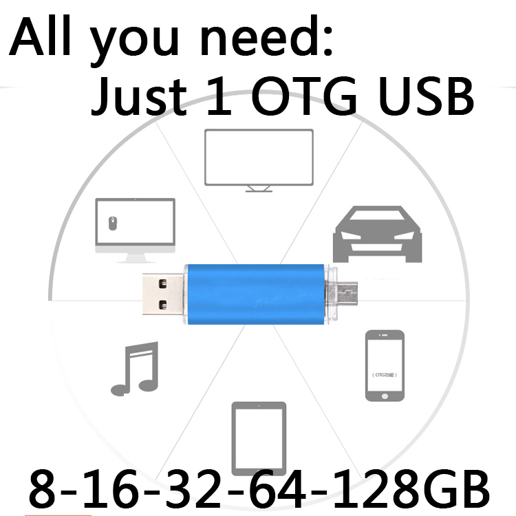 Pen Drive 32gb 16gb Smart Phone USB Flash Drive 1tb Pendrive 8gb OTG External Storage Micro Flash Usb Memory Stick 64gb 128gb