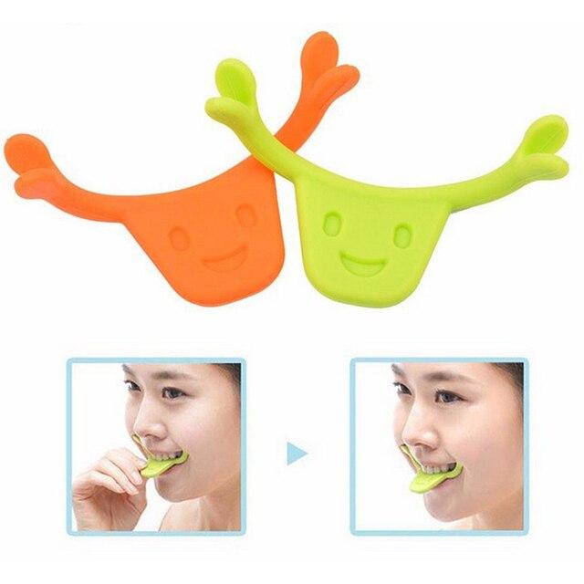 1 pieza sonrisa forma de boca entrenamiento Brace entrenador mejorar sonrisa formador cara entrenamiento ejercicio sonriente práctica herramienta