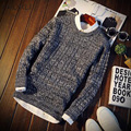 male 2016 men's fashion pullover sweater men leisure slim pull homme round neck long-sleeved sweater soild mens sweaters sweater