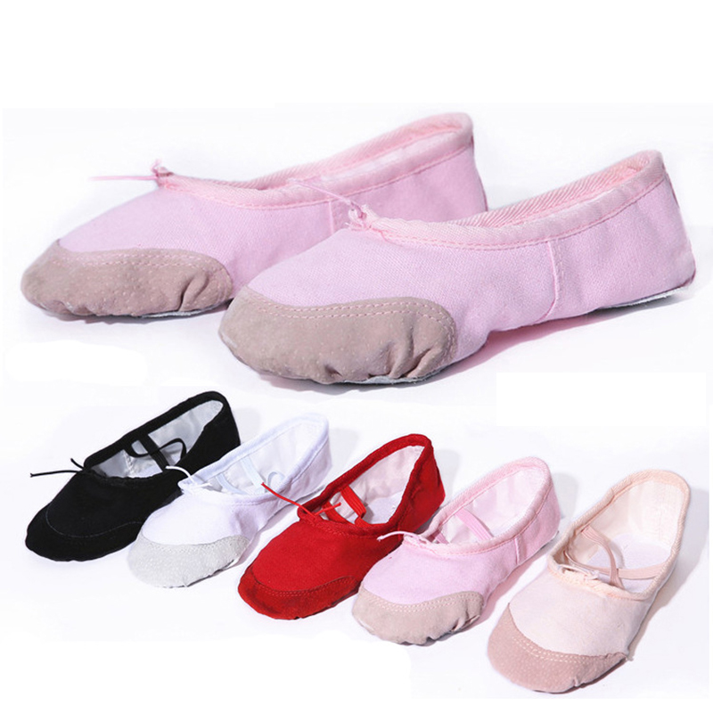Free shipping Children dance shoes ballet yoga flat cat claw dancing shoes canvas soft sole canvas ballet dance shoes JQ-260