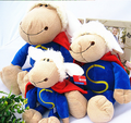 28cm  High quality Germany NICI Jolly Mah Sheep Superman lamb Plush Toy  Children birthday Christmas Gifts 1pcs