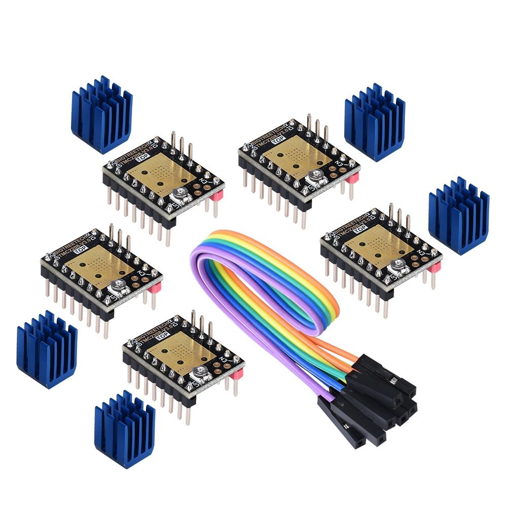 lowest price BIGTREETECH TMC2130 V3 0 SPI TMC2208 UART Stepper Motor Driver 3D Printer Parts for SKR V1 3 V1 4 PRO MKS GEN L A4988 TMC2209