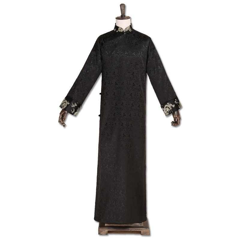 Традиционный китайский костюмы для мужчин мужской пальто Верхняя одежда oriental зима Тренч Одежда Тренч 2018 TA325