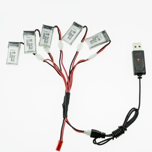3.7V 260mAh Li-po Battery 5pcs and USB charger For JJRC H20 Mini RC Quadcopter High Quality Technology Material Lipo Batteries