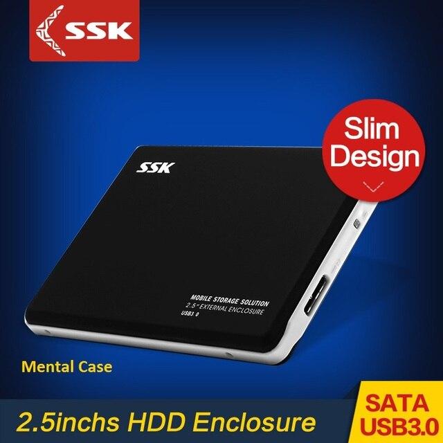 SSK HE-V300 2.5 Inch HDD Enclosure USB 3.0 Hard Disk Case for Notebook Mental Case SATA Interface HDD External Enclosure