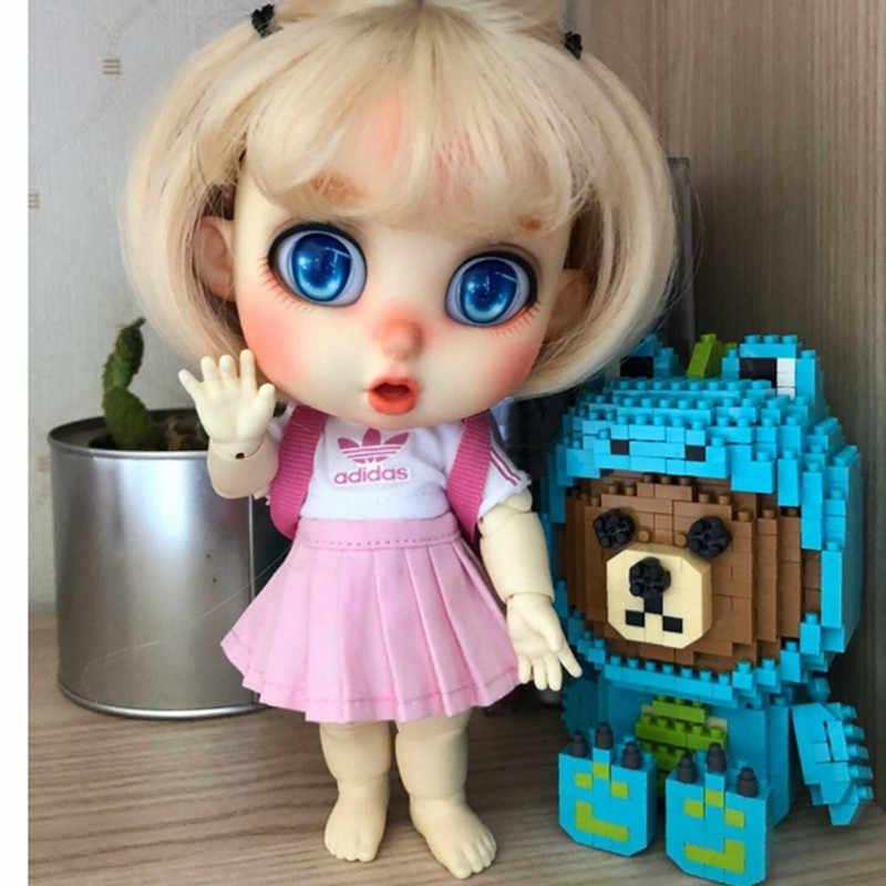 BJD 1/8 Bru SD Telanjang Terkejut Boneka Ekspresi Emosi Yang Berbeda Tubuh Model Sepatu untuk Gadis Anak Laki-laki Telanjang Boneka Berkualitas Tinggi