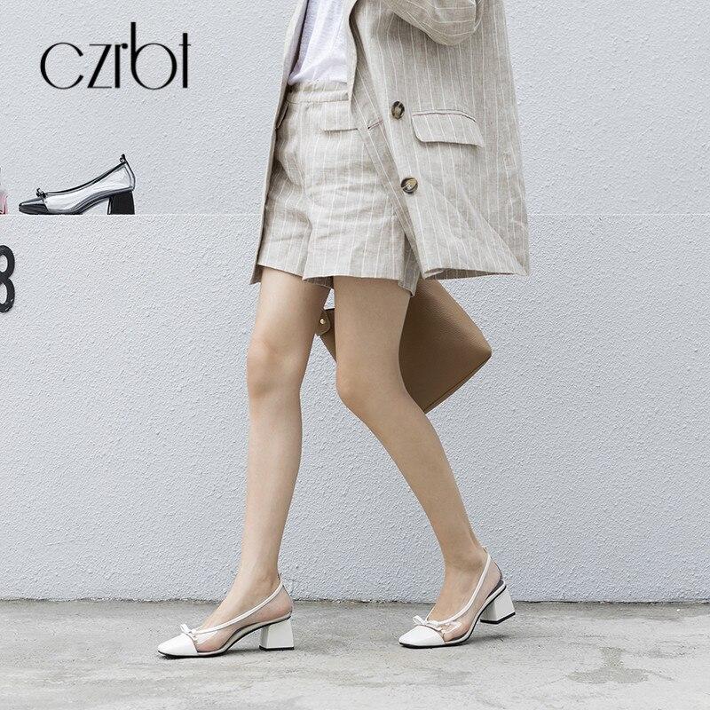 CZRBT/Летняя женская обувь на плоской подошве; повседневные Лоферы без застежки; женская обувь с острым носком; прозрачные босоножки из пвх; 2018; женская кожаная обувь - 4