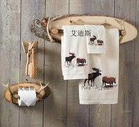 Винтаж вешалка для полотенец почти стойки, рог оленя полотенце бар