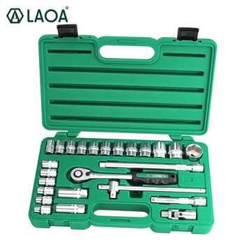 LAOA Socket Ratchet Wrenches Set Wrench Tools Kit Vehicle Car Repair Automobile Maintenance Repairing Box