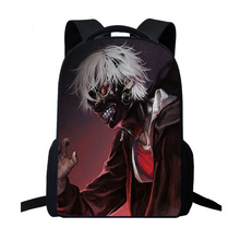 Anime Tokyo Ghoul Backpack Women Men Travel Laptop Backpack Kids School Cool Teens Boys Girls School Bag