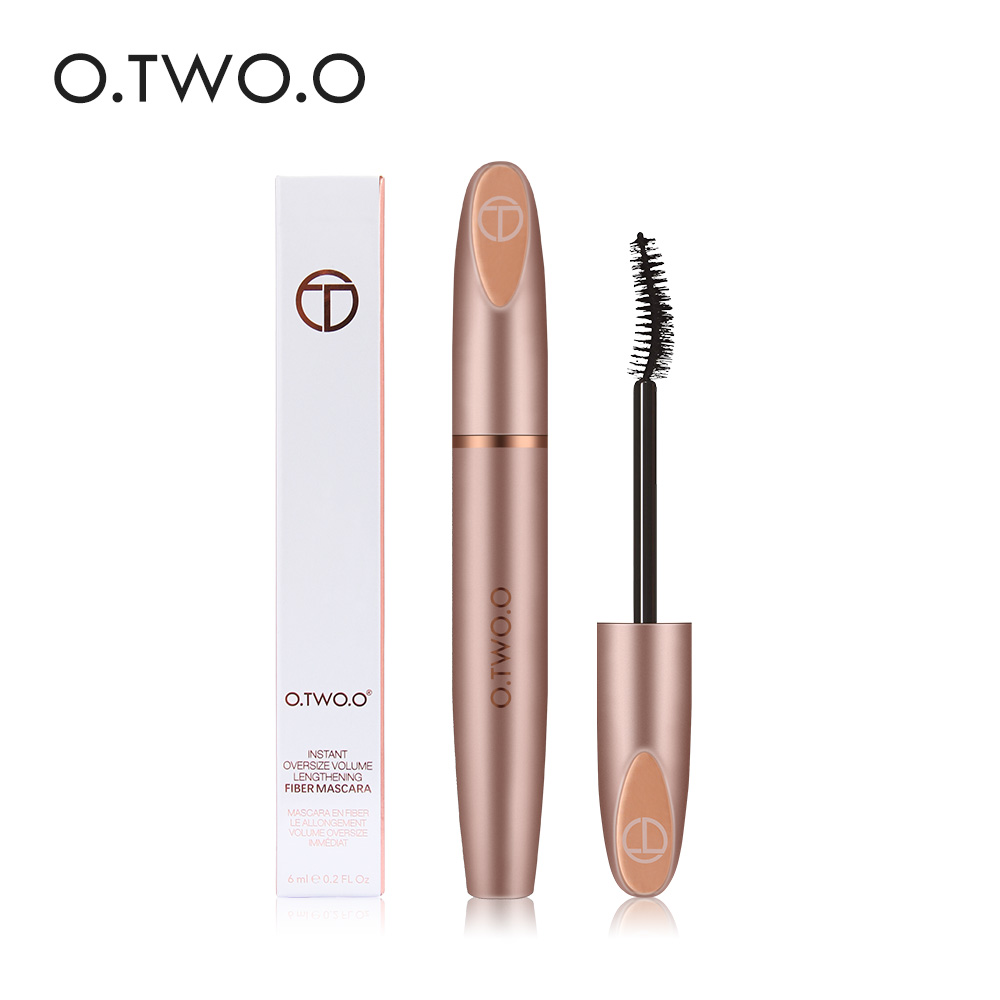 O.TWO.O 3D Silk Fiber Mascara Lengthening Waterproof Long Lasting Curling Thick Mascara Long Eyelashes Extension Make Up