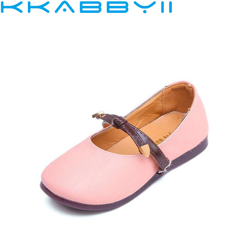 Girl Princess Leather Shoes Children Girls Dancing Shoes Wedding Party Shoes Kids Flat Shoes 1-12 Years