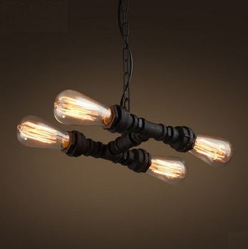 Nordic Loft Style Water Pipe Lamp Retro Edison Pendant Light Fixtures Vintage Industrial Lighting For Dining Room Lamparas