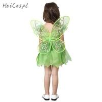 Tinker Bell Cosplay Costume For Kids Little Fairy Miss Bell Dress Halloween Party Girl S Fancy