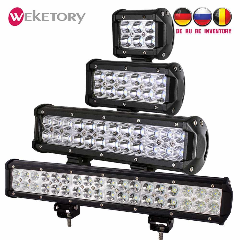 weketory 4 7 12 17 inch 18W 36W 72W 108W LED Work Light LED Bar Light for Motorcycle Tractor Boat Off Road 4WD 4x4 Truck SUV ATV
