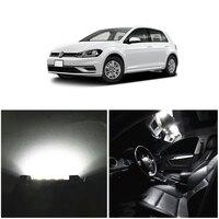 WLJH 9pcs White Canbus Error free W5W 36MM C5W Light For Volkswagen VW Jetta VI MK6 Sedan LED Interior Light Package kit 2011+