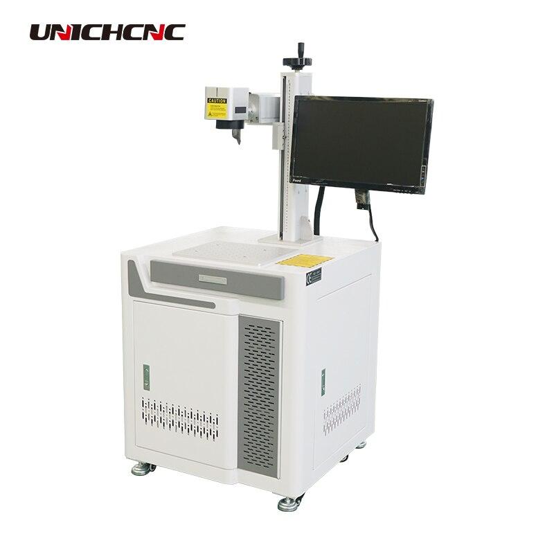 Machine de marquage laser de fibre d'abs/PC pour le petit boîtier de LED
