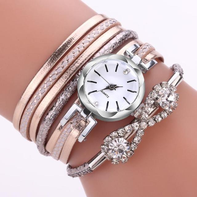 Watch Rose Gold Quartz Ladies Women's Watch Wristwatch Woman Fashion Causal Dres
