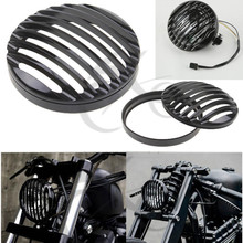 цена на Motorcycle Headlight Grill Cover For Harley Sportster XL 883 1200 2004-2014 high quality