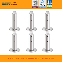 Mirror Polish 6 Pieces/Lot Duplex 2205 stainless steel barkets glass pool fencing spigot for swimming pool balustrade handrail