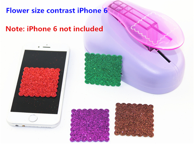Free Ship Diy Square Wave Paper Cutter Paper Punch Scrapbooking