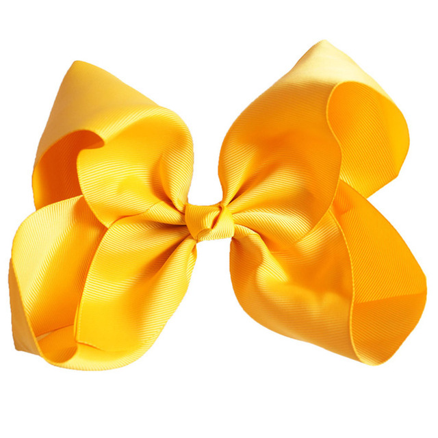 8 Inch Hot Solid Hair Bows Handmade