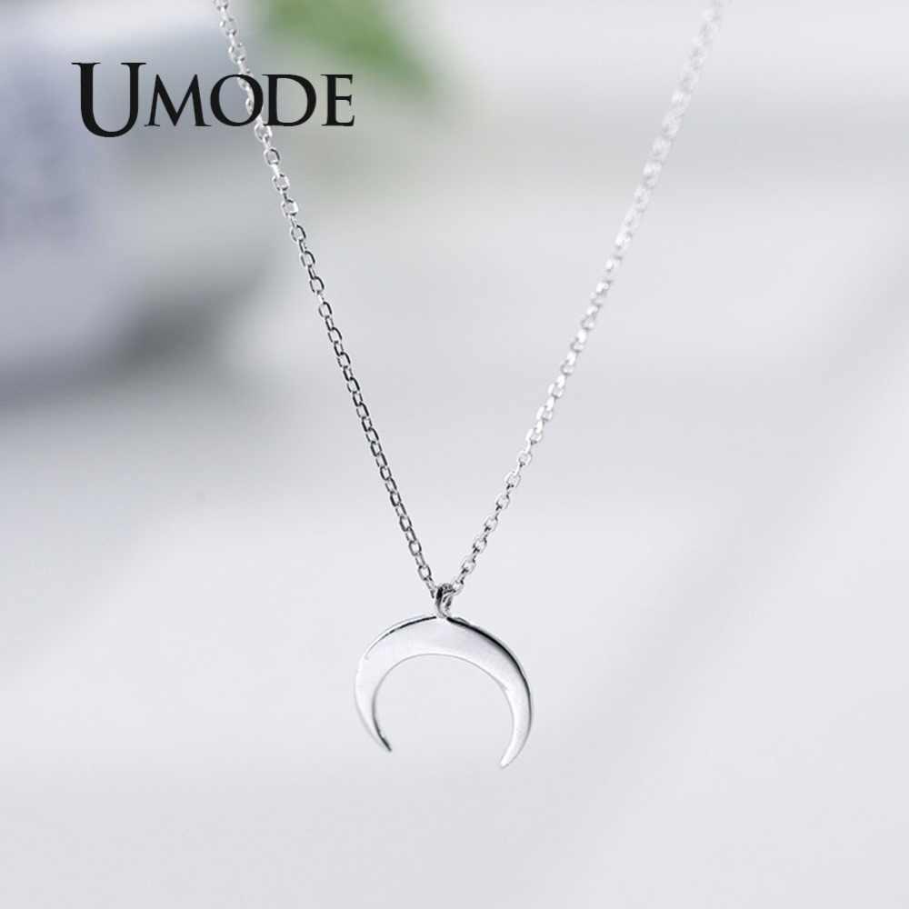 Umode Fashion Maan 925 Sterling Zilveren Hangers Kettingen Geschenken Voor Vrouwen Kettingen Leuke Romantische Zilver 925 Sieraden ULN0395