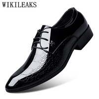 Designer Luxury Brand Oxfords Shoes For Men Dress Shoes Patent Leather Croco Office Dress Shoes Zapatos
