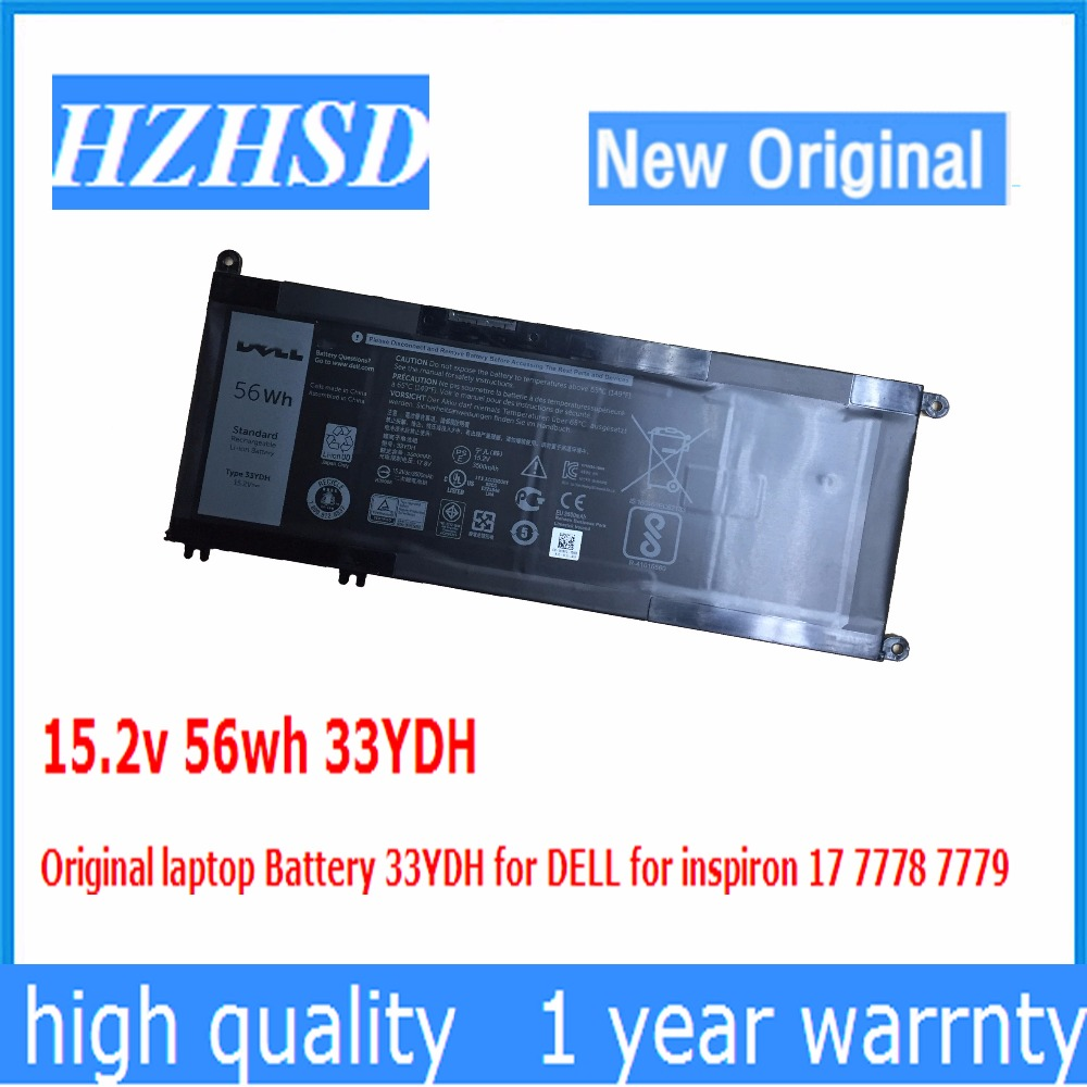 15.2v 56wh 33YDH NEW Original Laptop Battery 33YDH For DELL For Inspiron 17 7778 7779