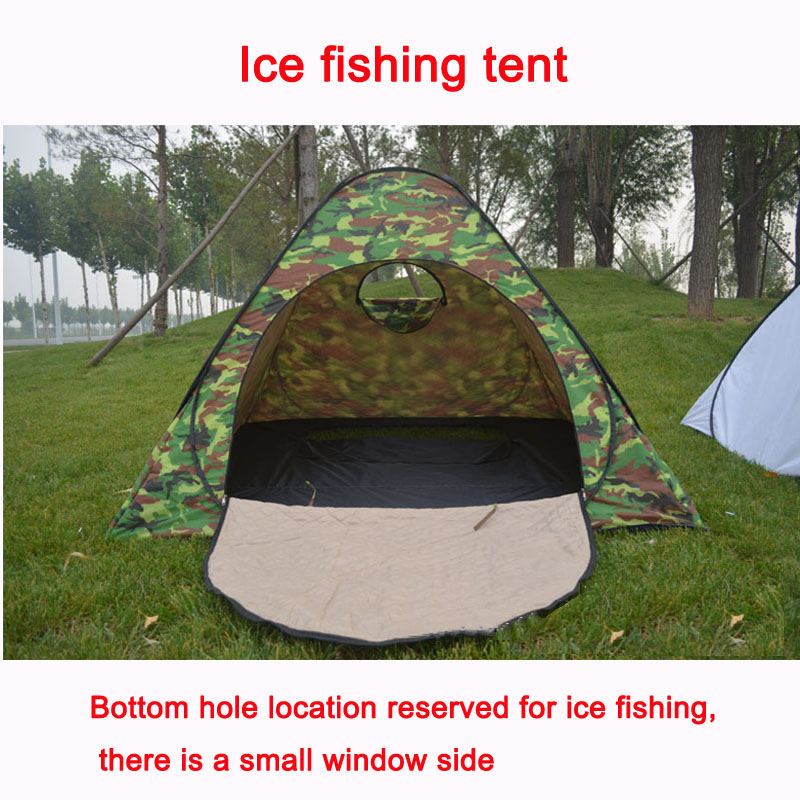Ice fishing tents waterproof windproof weatherization ice for Ice fishing tents