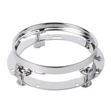 7 дюймов из нержавеющей стали круглый светодиодный Крепление Фары Кронштейн кольцо для Harley встроенный сильный пружины хромированный