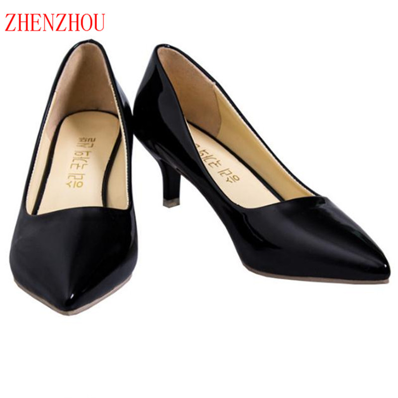 2018 ZHENZHOU Women's shoes with pointed high heels and thin women's shoes