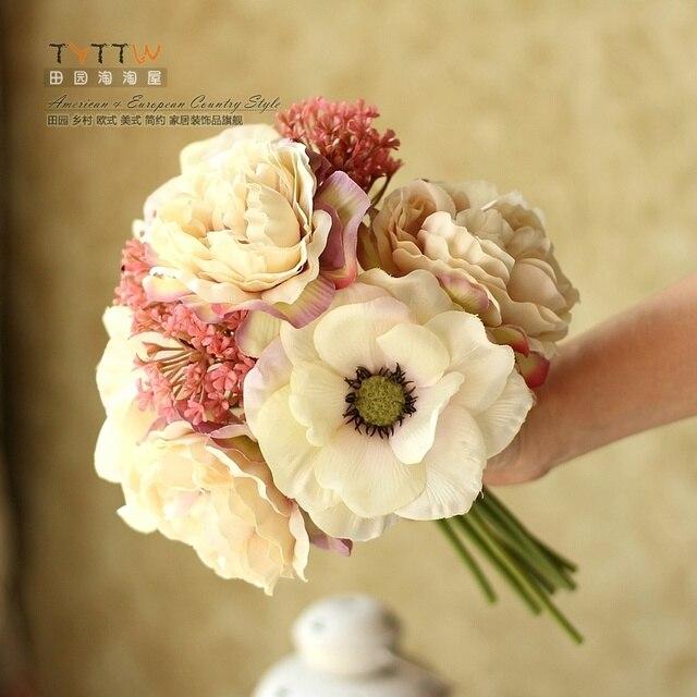 Высокая Quanlity Красота Красочные Раскаты искусственных цветов Свадебные Букеты 2016 Свадебные Букеты