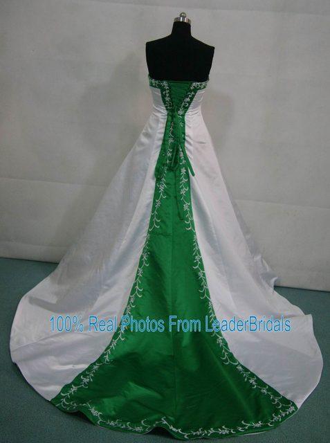 Online Shop New Wedding Dresses White Ivory Blue Green Purple Red ...
