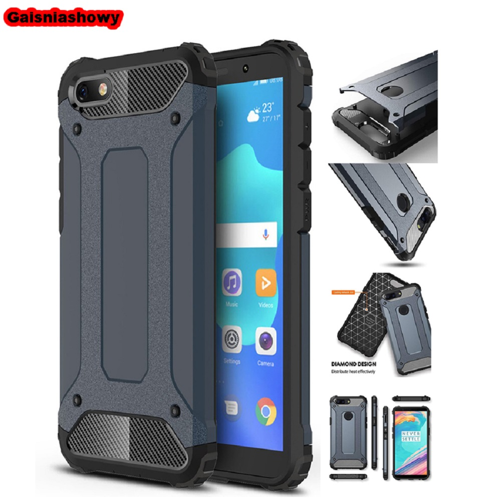 Case For Huawei <font><b>Honor</b></font> <font><b>7A</b></font> Shockproof Armor Hard PC Silicone Case For <font><b>Honor</b></font> <font><b>7A</b></font> <font><b>DUA</b></font>-<font><b>L22</b></font> 5.45'' RU Soft TPU Phone Case Cover image