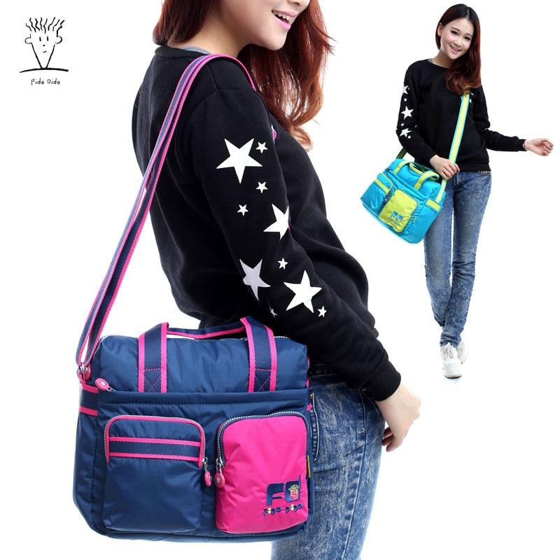 Fido Dido Shoulder Bag Messenger Bag Korea Handbag Large Capacity Canvas Bag Tide Travel Bag!! fido