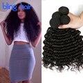 Роза Волосы Перуанский Глубокая Волна 4 Связки Перуанский Девы Волос Deep Вьющиеся 8А Класса Virgin Необработанные Перуанской Человеческих Волос