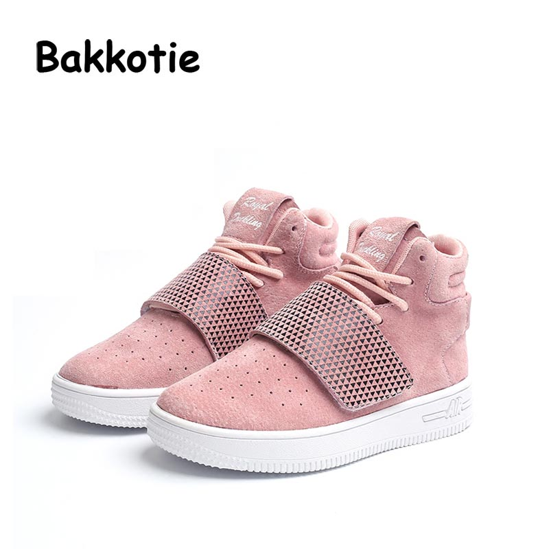 Bakkotie Baby Fashion High Top Flat Child Girl Brand Genuine Leather Leisure Sneaker Kid Boy Sport Shoe Toddler Trainer Soft bakkotie 2017 new autumn baby boy casual shoes khaki genuine leather black kid girl brand flat shoes soft sole breathable child